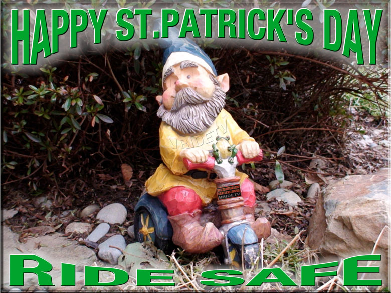 st patrick on bike