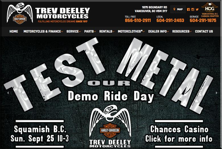 trev deeley motorcycles demo day