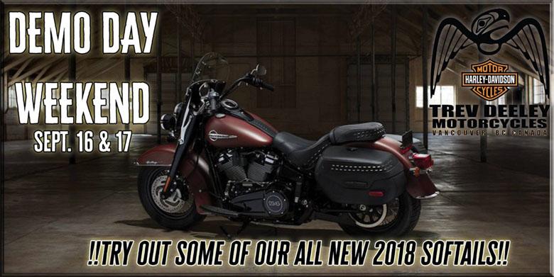 Trev Deeley Motorcycles Demo day weekend