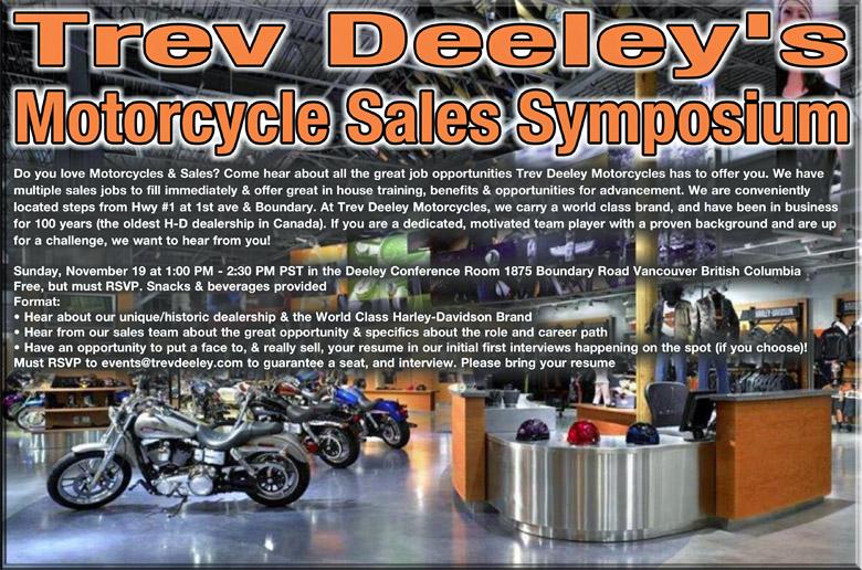 trev deeley motorcycles is hiring in Vancouver