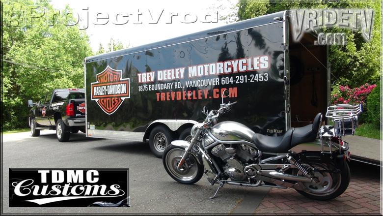 trev deeley harley davidson truck and trailer