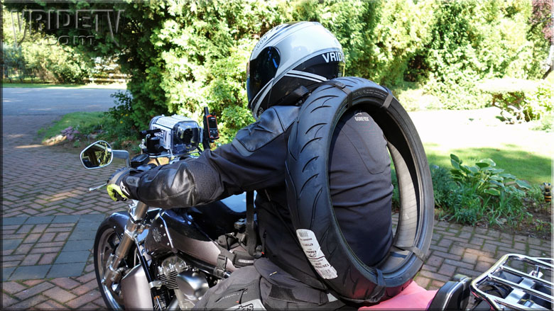 Motorcycle tire backpack : Motorcycle Rider Blog. Behind the ...