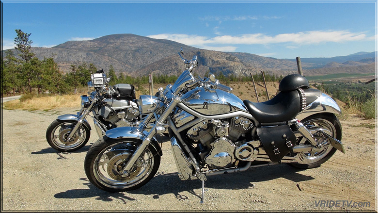 two vrods in the mountains
