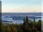 Vancouver British Columbia  as seen from the Cypress Mountain point of interest. watch this HD video at vridetv.com