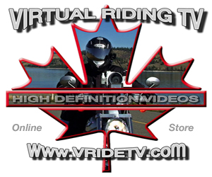 Virtual Riding TV online store. Motorcycle touring in Canada with vridetv.com