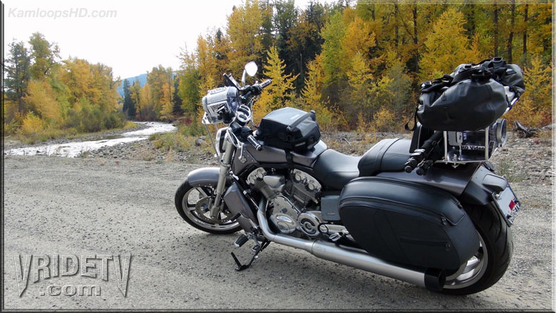 motorcycle riding in the fall