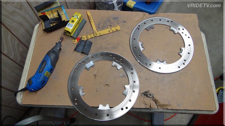 vrod front brake disc rotors