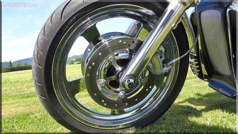 VROD wheel cut and chromed
