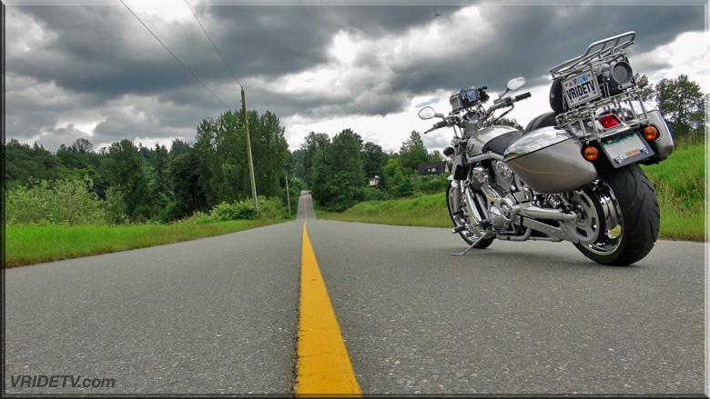 Harley Davidson Vrod on road
