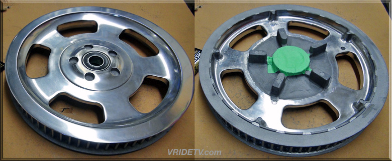 vrod pulley front and back views