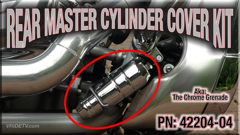 vrod rear master cylinder chrome cover kit 42204-04