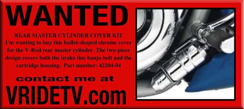 vrod rear master cylinder cover kit chrome 42204-04
