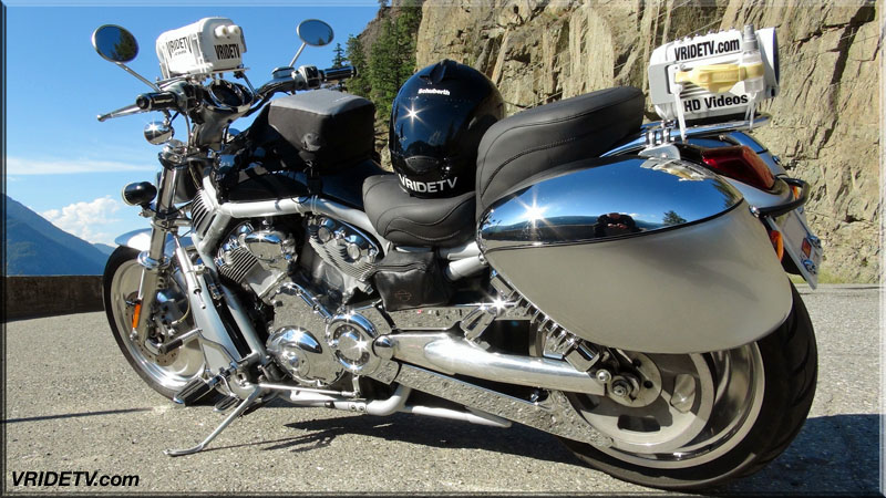 VRod Harley Davidson camera bike. Touring, travel, rides, rally, adventure videos