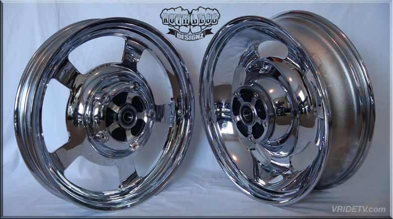 OEM Vrod wheels machined and chromed