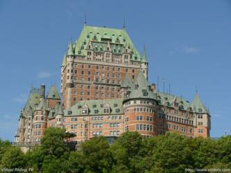 Chateau Frontenac,Quebec City, Quebec, Canada. The Chateau Frontenac is the most photographed hotel in the world and is in Old Quebec City. Designated a World Heritage Site in 1995 by the U.N.E.S.C.O. High resolution Wallpaper at vridetv.com Virtual Riding TV