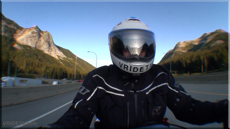 motorcycle riding on the coquihalla highway